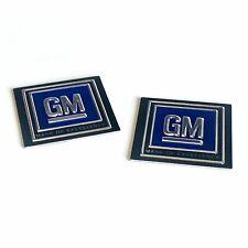 GM Logo Seatbelt Authentic DECAL Seat Belt Push Button Style PAIR 60s 70s 80s LS