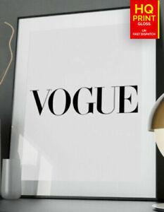 Vogue Fashion Designer Inspirational Wall Art Poster *LAMINATE* A5 A4 A3