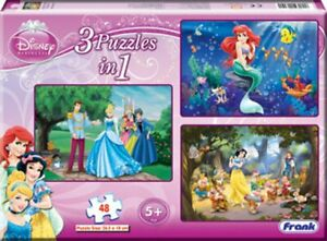 Disney Princess 3 in 1 Jigsaw Puzzles ( A Set of 48 Pcs) For 5+ Years Old KIds