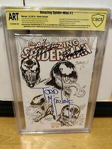 Amazing Spider-Man #1 Blank ART SIGNED SKETCH CBCS NOT CGC Venom Todd McFarlane