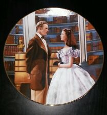 Gone With The Wind 1991 A Declaration Of Love Ceramic Art Fine China Plate