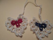 4 Dove Country Tatted Bookmarks Heart and Butterfly Unique Gift Shuttle Tatting