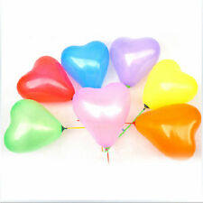 "100pcs 12"" Color Heart Shaped Latex Balloons Wedding Birthday Party Decoration&"