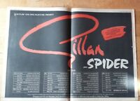 Gillan tour and Spider  1982 press advert 2 page 56 x 40 cm mini poster