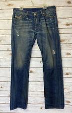 DIESEL Men's VIKER Denim Jeans Reg Straight 34 X 34 Distressing Button Fly