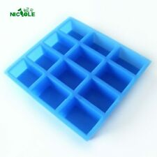 12-Cavity Silicone Soap Mould Handmade Rectangular Loaf Bar Mould