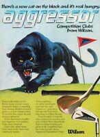 1981 Wilson Panther Golf Club Original Vintage Advertisement Print Ad J901