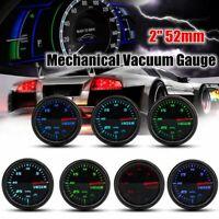 "Vacuum Intake Gauge Digital 7 Color LED Display Universal Car Odometer 2"" 52mm"