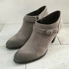 MINT VELVET Mid-Top Ankle Boots Grey Suede Womens Size UK 7 | EUR 40