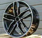 18x8 Black Wheels Fit Audi A3 A4 A5 Q3 Q5 Vw Jetta Passat Tt 18 35 5x112 Rims