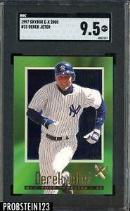 1997 Skybox E-X2000 #33 Derek Jeter New York Yankees HOF SGC 9.5 MINT+