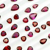 Wholesale Lot 4x4mm to 8x5mm Pear Faceted Rhodolite Garnet Loose Calibrated Gems