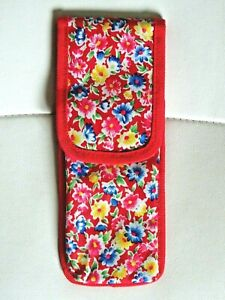 Red Blue Yellow Flower Mobile Phone Cover Large With Belt Hook Bright Flowers