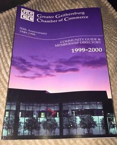 1999-2000 Greater Gaithersburg MD Chamber Directory. 50th Anniv.