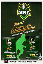 2009 Select NRL Champions Trading Cards Official Album (With Pages)