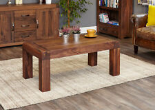 Shiro Premium Dark Wood Coffee Table Low Modern Solid Walnut