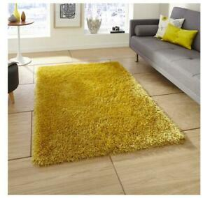 Think Rugs Monte Carlo Hand-Tufted Yellow Area Rug 60 X 120