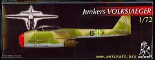 Unicraft Models 1/72 JUNKERS VOLKSJAEGER German Jet Fighter Project