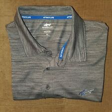 Men's Attack Life by Greg Norman Gray Fitness Workout Golf Polo Xl Play Dry