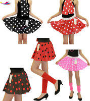 Girls Polka Dot Skirt Rock and Roll Dress 50'S Fancy JIVE ROCK & ROLL lot Grease