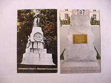 2 Color Postcards WW2 Commodore Perry's Monument Fort Benning UNUSED + FINE