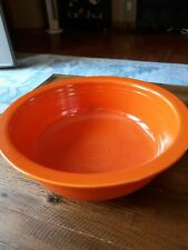 "Vintage 1936 RED ORANGE RADIOACTIVE FIESTA  8 1/2"" NAPPY BOWL FIESTAWARE"