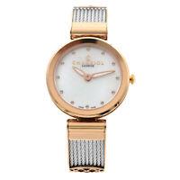 Charriol Forever Crystal White MOP Dial Steel Ladies Quartz Watch FE32.102.005