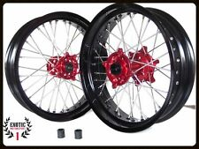 Honda CRF 250 CRF 450 CR 125 CR 250 Supermoto Wheels set 17""