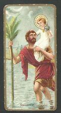 Holy card antique de San Cristobal santino andachtsbild image pieuse