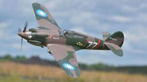 P-40B, Plug N Play, Wingspan: 55.1 in (1400mm) Brushless RC Airplane