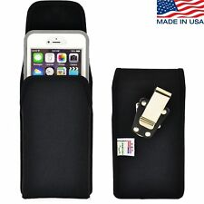 Turtleback iPhone 6 PLUS Nylon Pouch Holster Metal Clip fits Otterbox Case