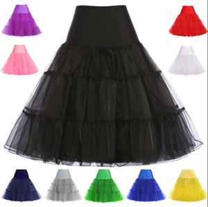 Hochwertig Petticoat Rockabilly Röcke Dirndl Rock Vintage Tüllrock Unterrock L1