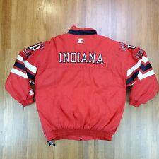 New listing Vintage Starter Indiana Hoosiers Winter Jacket Sz L / XL  Puffer Coat Full Zip