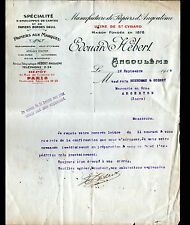 """ANGOULEME (16) Usine de SAINT-CYBARD / PAPIER IMPRIMERIE """"Edouard HEBERT"""" 1916"""