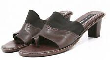 Etienne Aigner Sandals Womens shoes 6 Genuine Leather heels pump slides toe loop