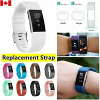 FOR Fitbit Charge 2 Replacement Silicone Rubber Band Strap Wrist Watch band CA
