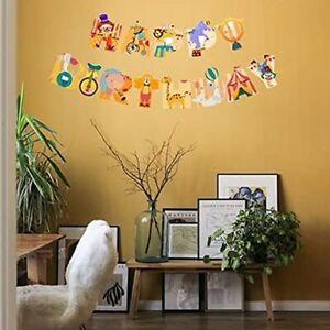 "Children""Happy Birthday"" Bunting - Kids Birthday Party Decoration - Circus"