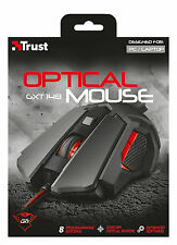 TRUST 21197 ILLUMINATED 8 PROGRAMMABLE BUTTON 600-3200DPI GAMING MOUSE GXT148