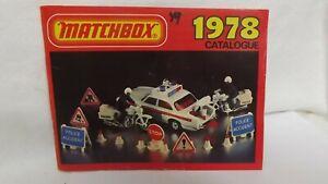 Vintage 1978 Matchbox Collectors Catalog  Lesney
