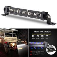 8'' 60W Waterproof CREE Slim LED Light Bar Spotlight Car Offroad Driving Lamp