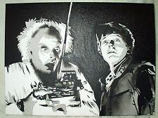 Peinture sur toile Retour vers le futur doc et marty N&B art 16x12 pouces acrylique