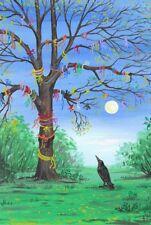 LE #1 4X6 POSTCARD RYTA VINTAGE STYLE UNUSUAL SURREAL ART RAVEN TREE OF WISHES