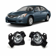 Fog Lights Set Driving Lamp w/ Wiring for 2010-2012 Nissan Altima 4dr Sedan