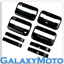 04-14 Ford F150 Truck Gloss Black 4 Door Handle+no keypad & no PSG keyhole Cover
