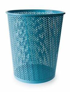 12L Blue Henley Waste Bin Rubbish Home Office Paper Bathroom Kitchen Dustbins UK
