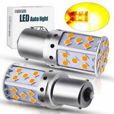 2x LED BA15S P21W 1156 35SMD Bulb Canbus Amber/Yellow Tail Brake Reversing Light