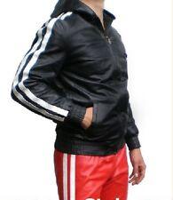 LEDER Trainingsjacke Lederjacke Hoodie cuir blouson leather jacket Gay *L* 021