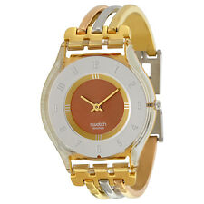 Swatch Tri-Gold Small Ladies Watch SFK240B