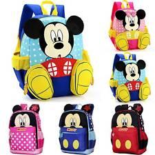 Kids Boys Girls Toddler Cartoon Mickey Minnie Bag Backpack Rucksack School Bag