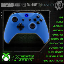 XBOX ONE RAPID FIRE CONTROLLER - BEST MOD ON EBAY!! Blue Rubber Shell - BLUE LED
